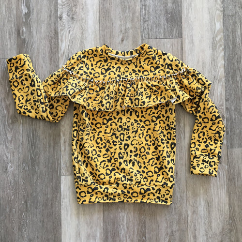 Loretta Ruffle Sweatshirt in Cheetah
