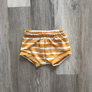 Whitney Shorties in Caramel Stripe