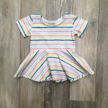 Peggy Peplum in Pastel Stripe