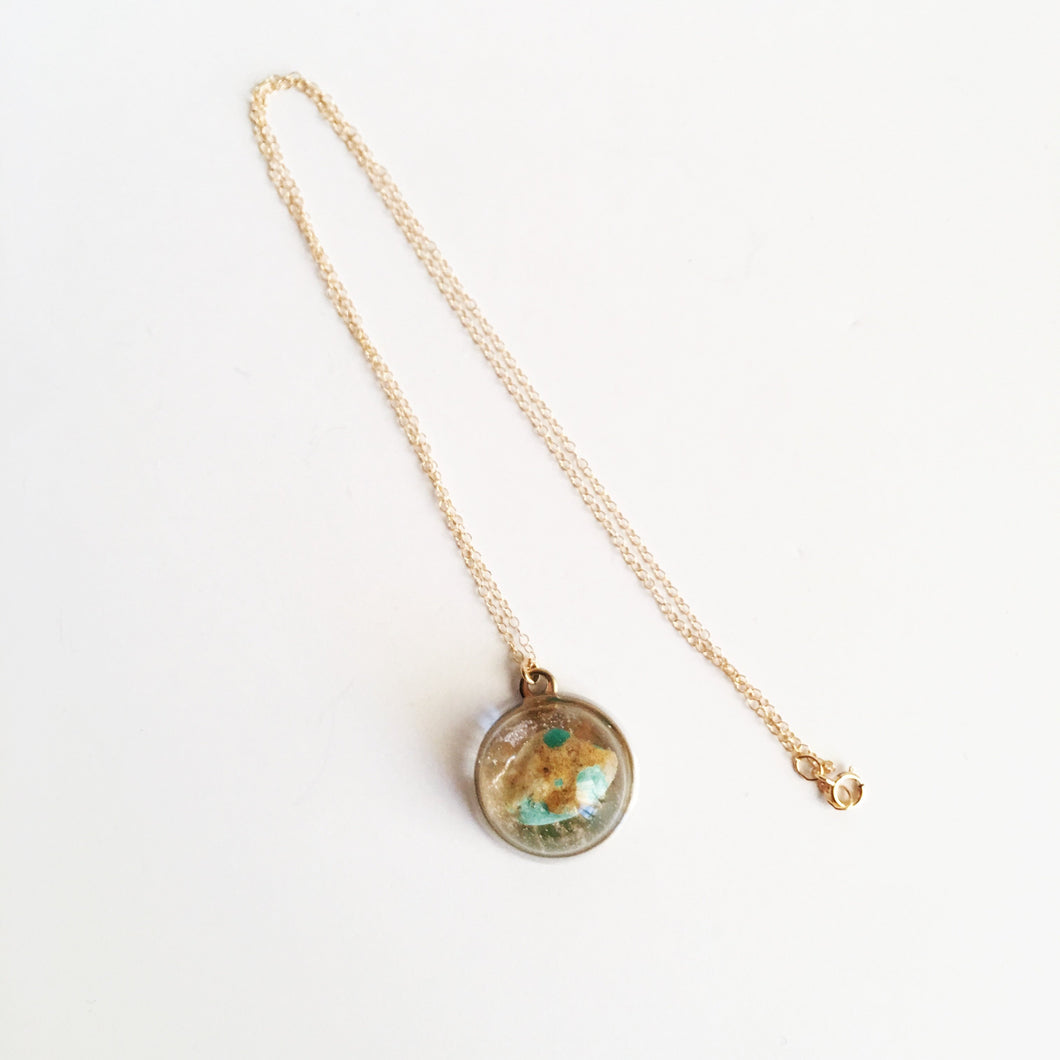 Turquoise P.O.M. Gemstone Candy Necklace Spocket