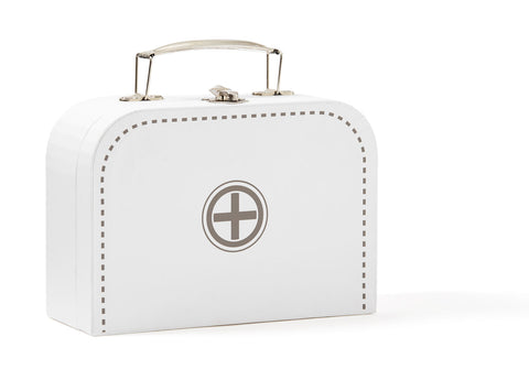 Doctor's Suitcase - Wooden - White