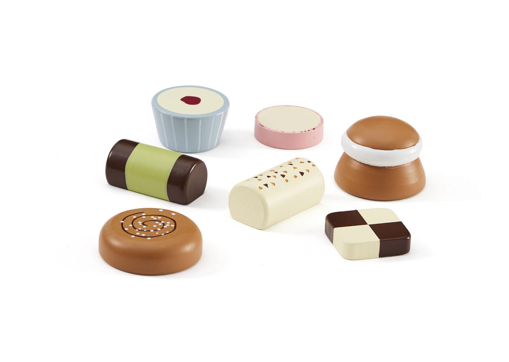 Swedish Fika Sweets Set - 7 Pieces - Wooden