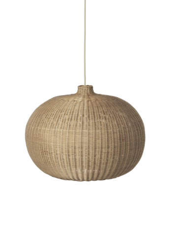 Lampshade - Hand-Braided Rattan - Belly Shape