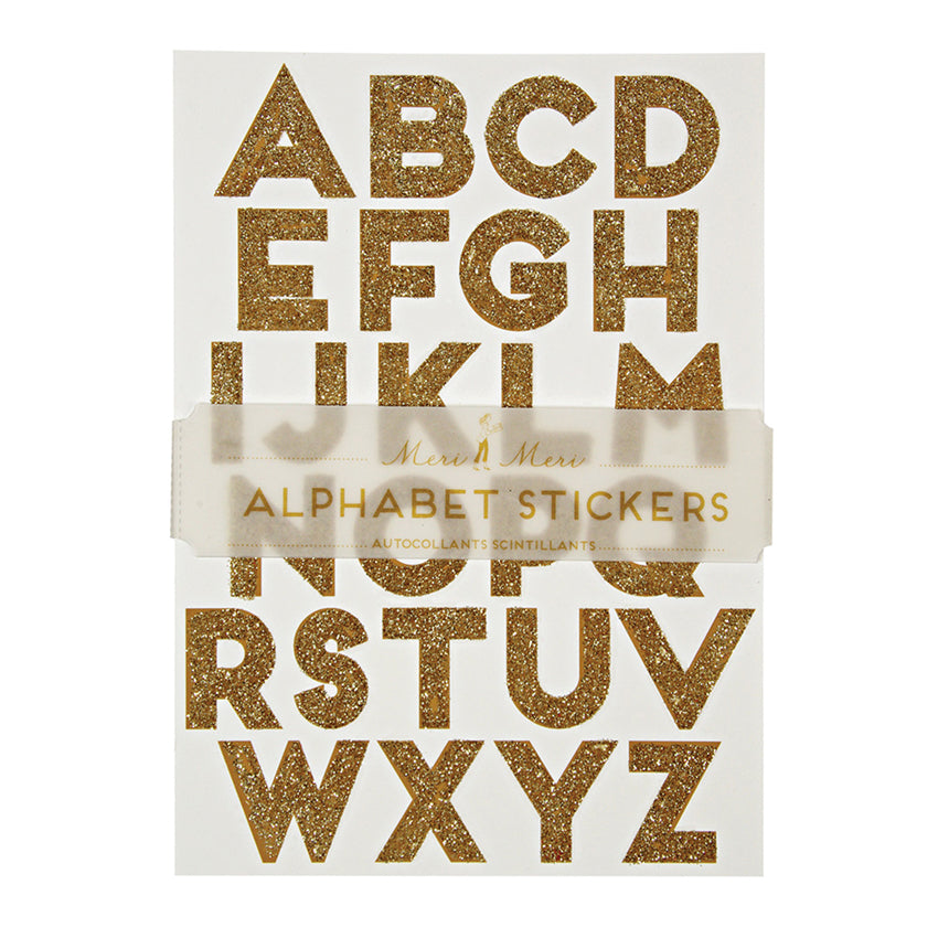Alphabet Gold - Stickers