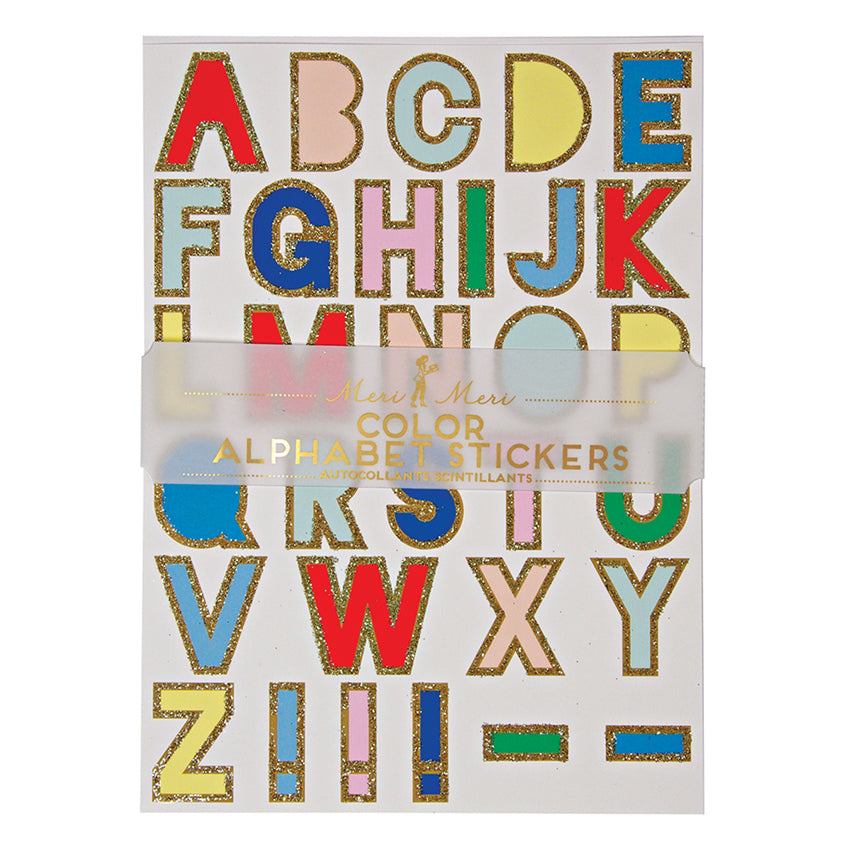 Alphabet Multi Coloured - Stickers