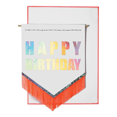Greeting Card - Happy Birthday Banner