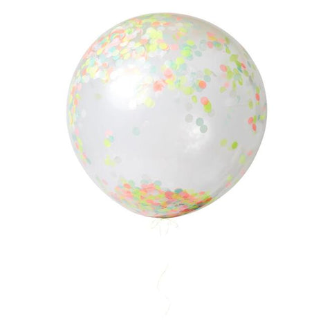 Giant Confetti Balloon Kit - Neon