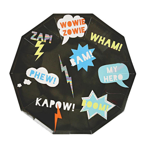 Plate - Zap! - Superhero - Large