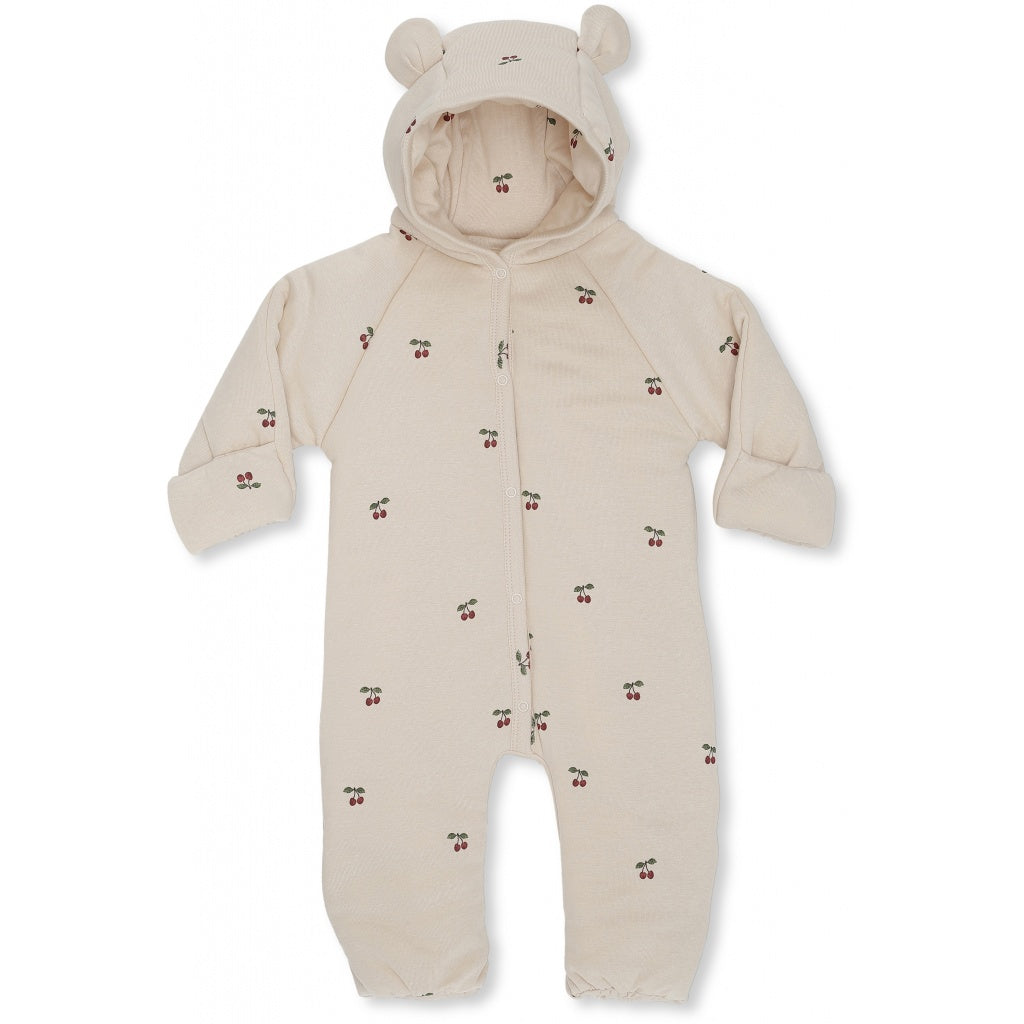 Onesie with Hood - Padded - Cherry - Blush
