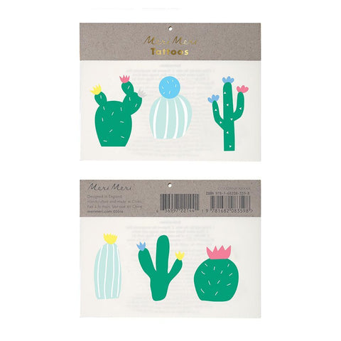 Temporary Tattoo - Cacti