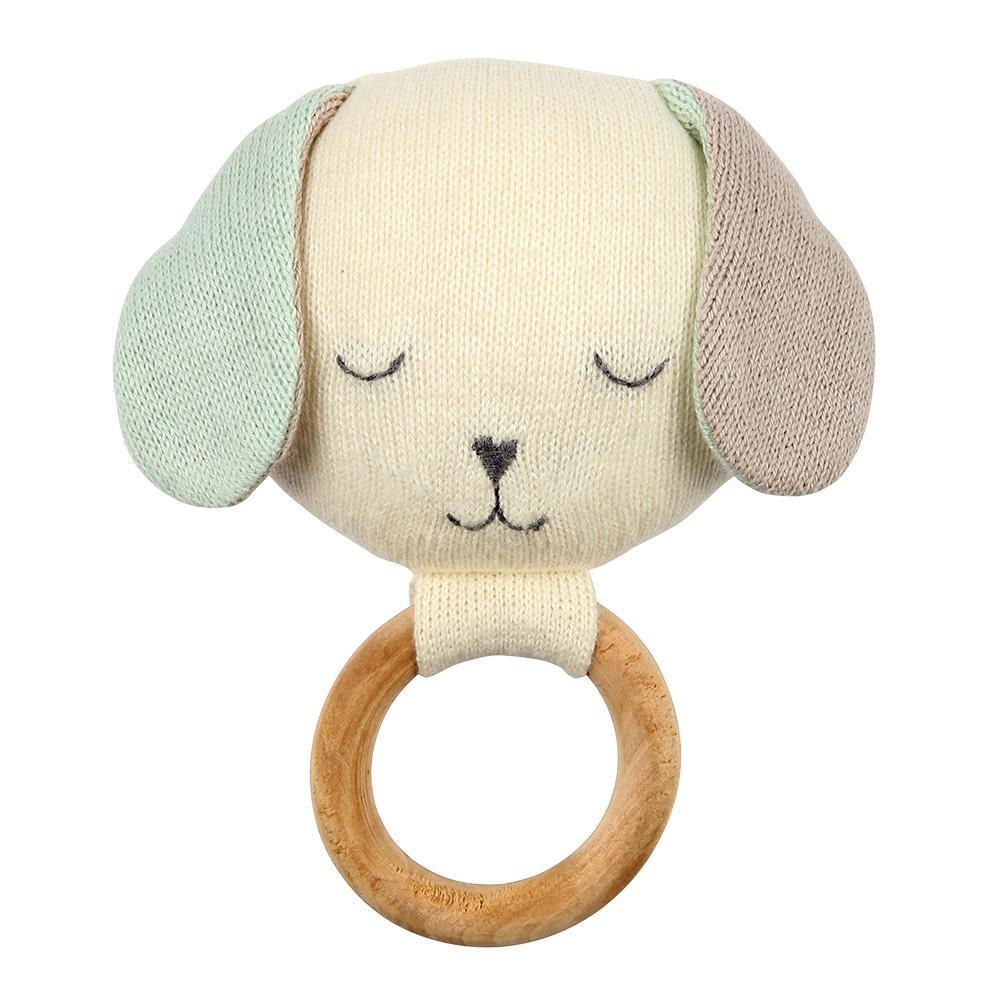 Knitted Rattle - Dog