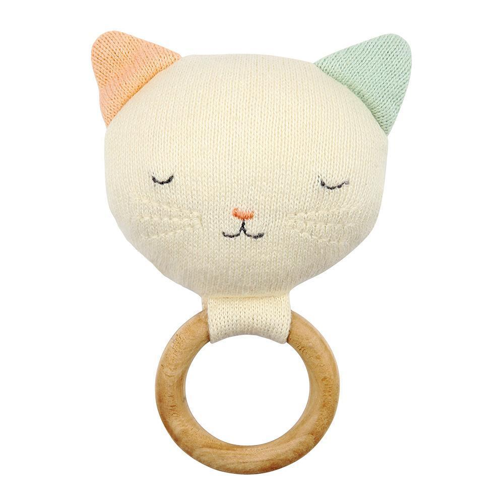 Knitted Rattle - Cat