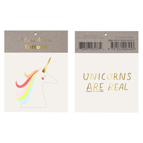 Temporary Tattoo - Unicorns Are Real