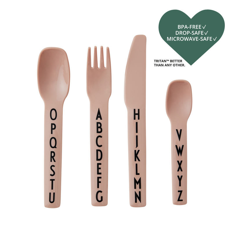 Cutlery Set - Alphabet - Pink