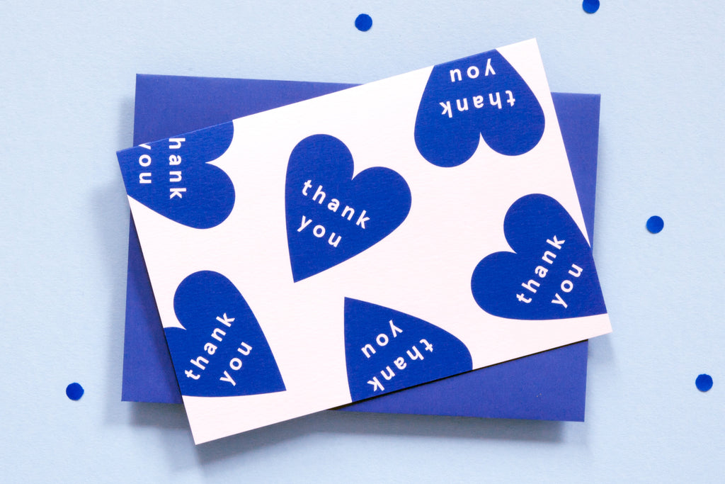 Greeting Card - Hearts - Thank You
