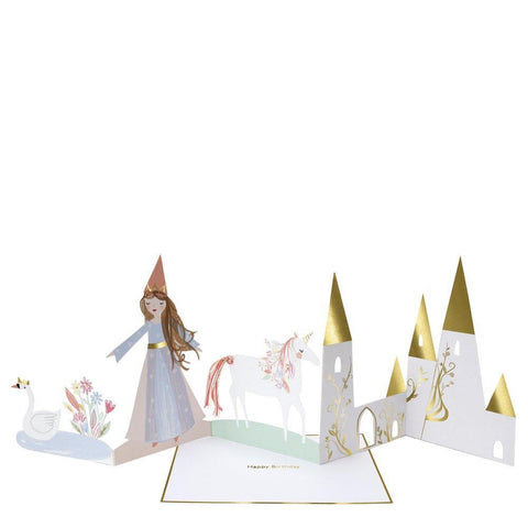 Greeting Card - Happy Birthday - Magical Princess Concertina
