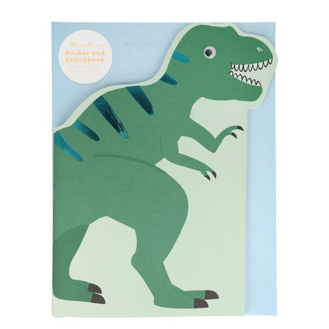 Sketch Book & Stickers - Dinosaur