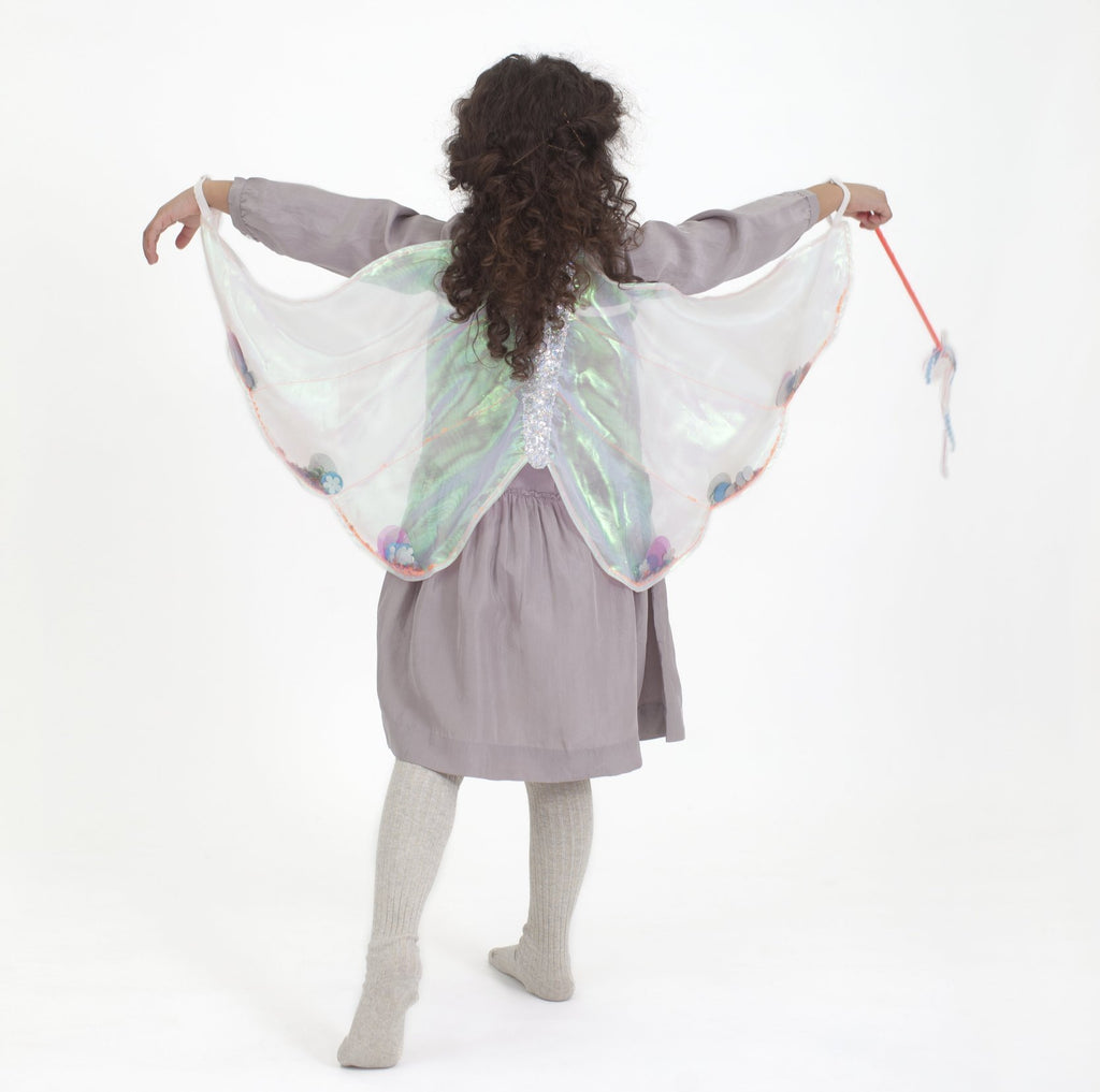 Cape Dress Up - Sequin Butterfly Wings