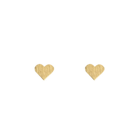 Earrings - Small Hearts - Gold