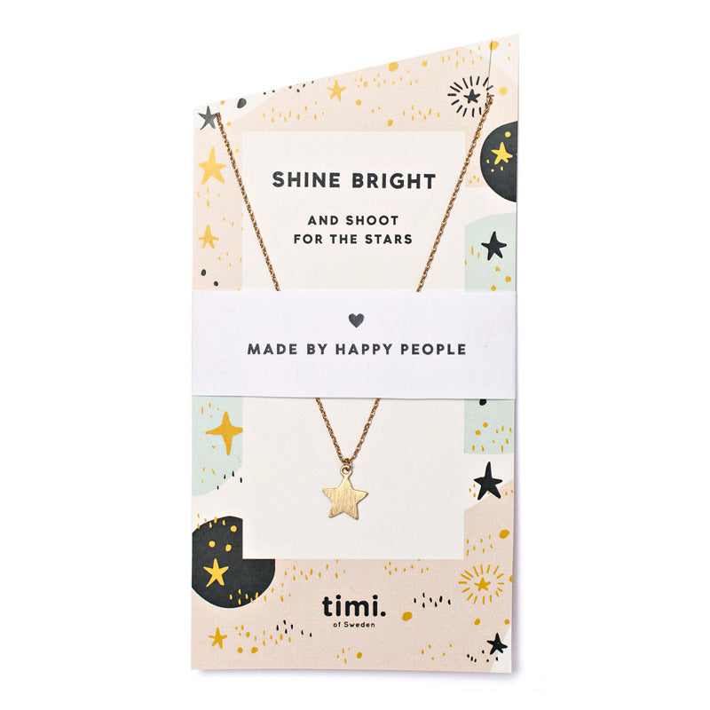 Necklace - Star - Shine Bright - Gold