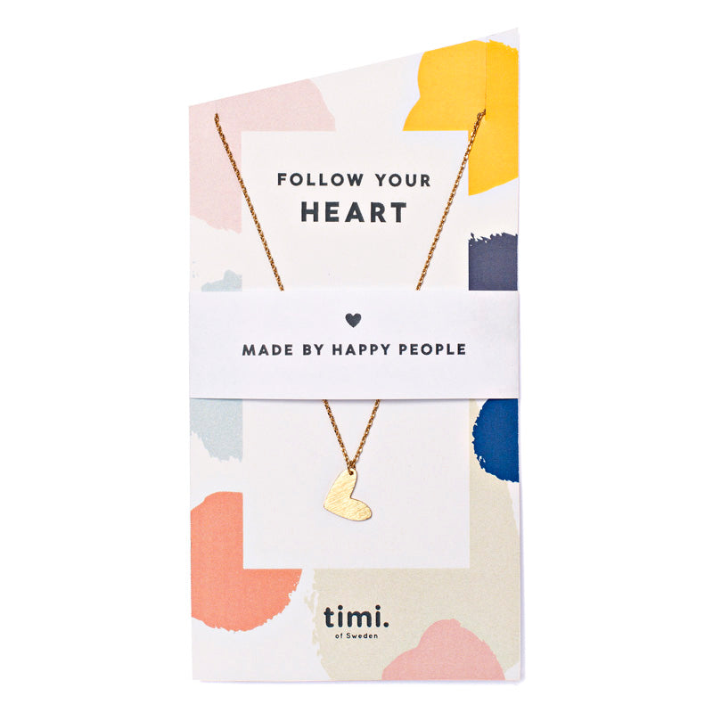 Necklace - Heart - Follow Your Heart - Gold