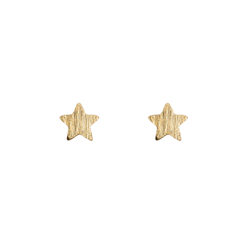Earrings - Small Stars - Gold