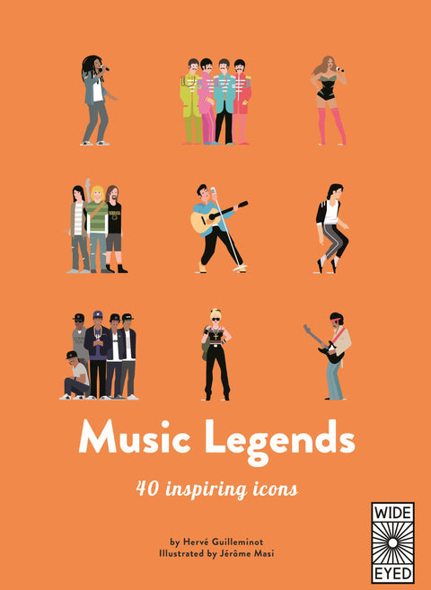 Book - Music Legends: 40 Inspiring Icons