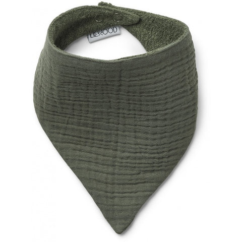 Bib Scarf - Organic Cotton - Set Of 2 - Faune Green