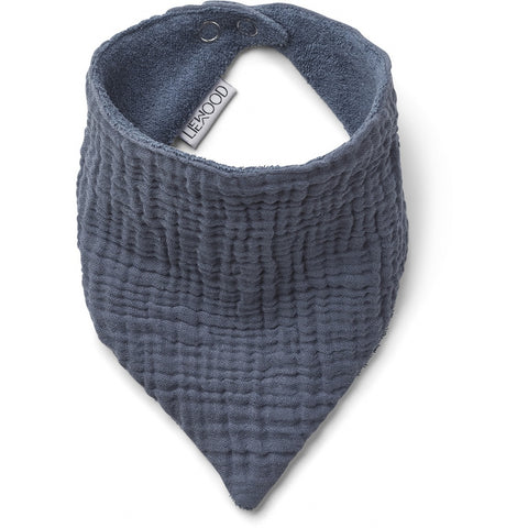 Bib Scarf - Organic Cotton - Set Of 2 - Blue