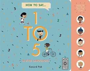 Book - How To Count 1 To 5 - In Five Languages - Press and Listen