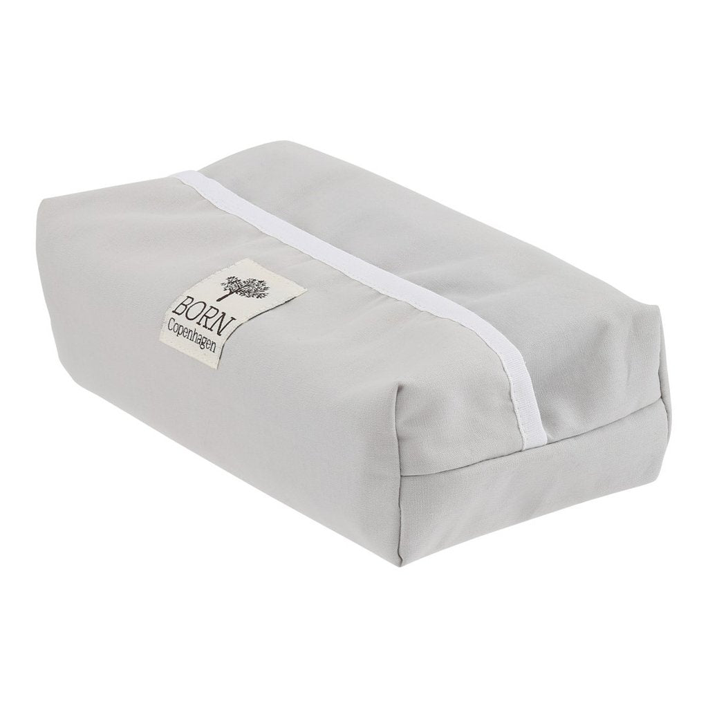 Baby Wipes Cover - Dusty Grey - Organic Cotton