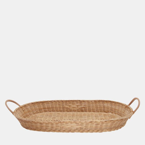 Changing Basket - Natural Rattan - Hand Woven - Bayu