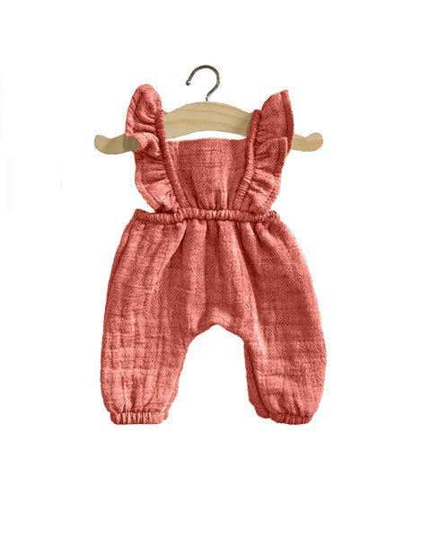 Doll Jumpsuit - Maya - Cotton - Marsala