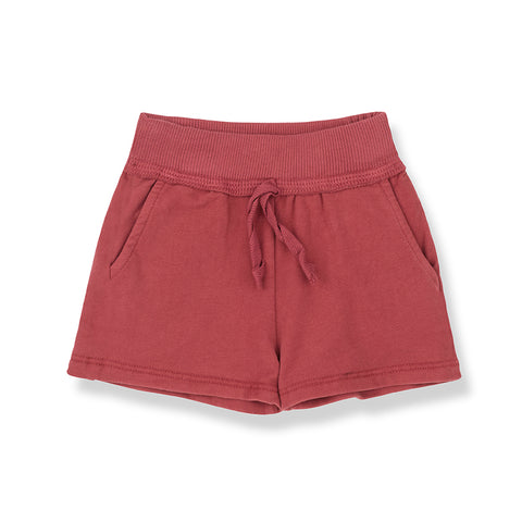 Shorts - Etna - Soft Fleece - Rusty Red