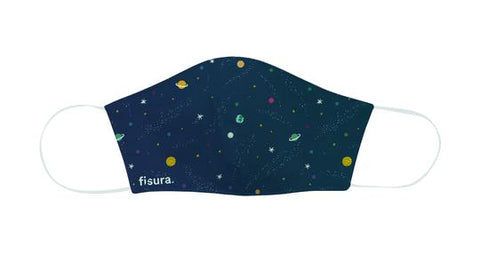 Kids Reusable Face Mask - 3 Layer - Galaxy