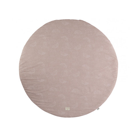 Play Mat - Round - White Bubble/ Misty Pink