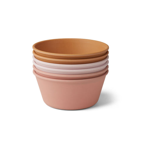 Bowl - Bamboo - Rose Multi Mix - Pack of 6