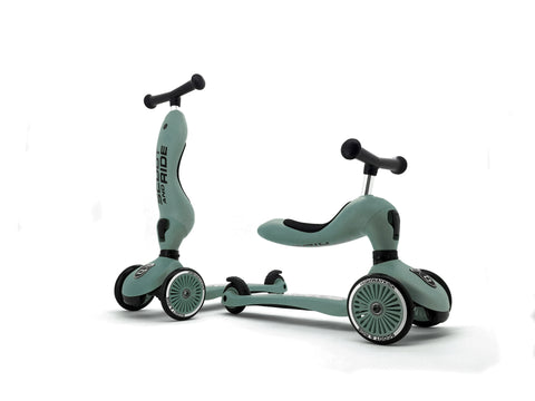 Scooter - Highwaykick 1 - 2 in 1 Kickboard/ Kickboard with Seat - Forest