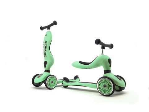 Scooter - Highwaykick 1 - 2 in 1 Kickboard/ Kickboard with Seat - Kiwi