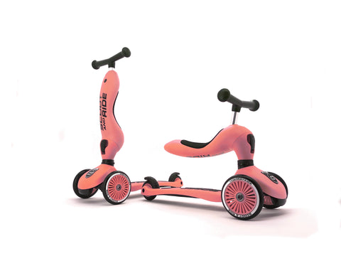 (Pre-Order) Scooter - Highwaykick 1 - 2 in 1 Kickboard/ Kickboard with Seat - Peach