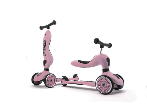 Scooter - Highwaykick 1 - 2 in 1 Kickboard/ Kickboard with Seat - Rose