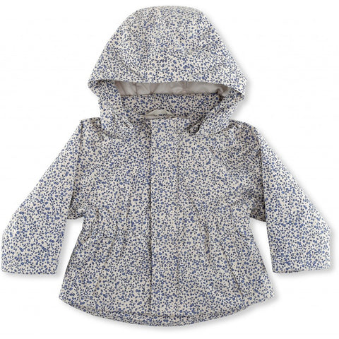 Hooded Jacket - Waterproof - Blue Blossom