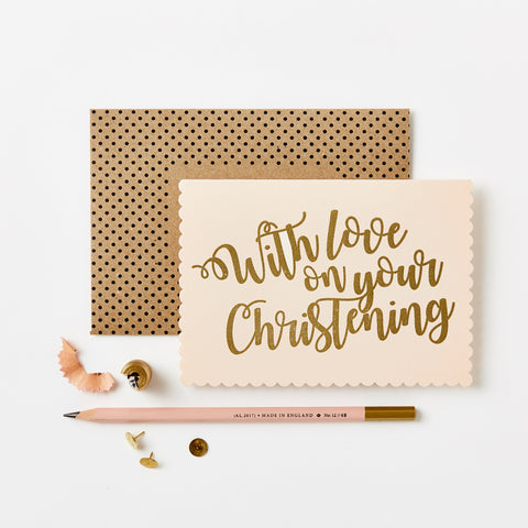 Greeting Card - With Love On Your Christening