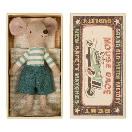 Mouse in Box - Big Brother - Blue & White Stripes