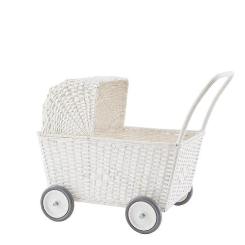 Strolley - Convertible Stroller/ Trolley - White Rattan