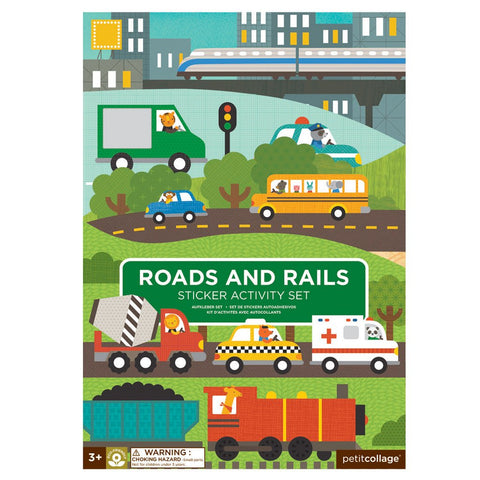 Sticker Activity Set - Roads & Rails