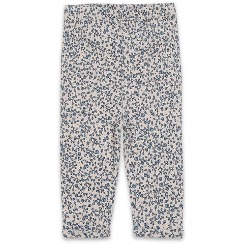Newborn Trousers - Blue Blossom Mist
