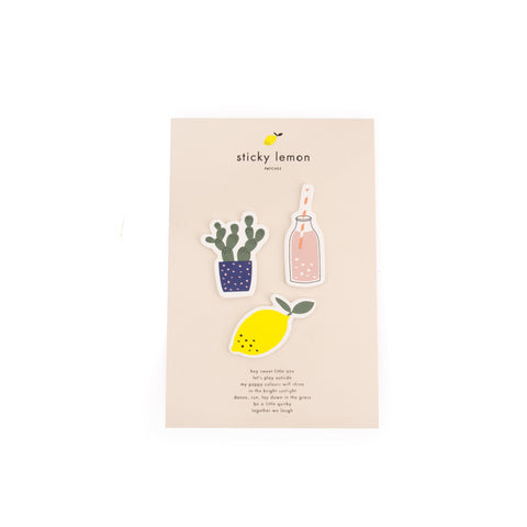 Heavy Duty Stickers - Cactus, Lemon & Lemonade Bottle