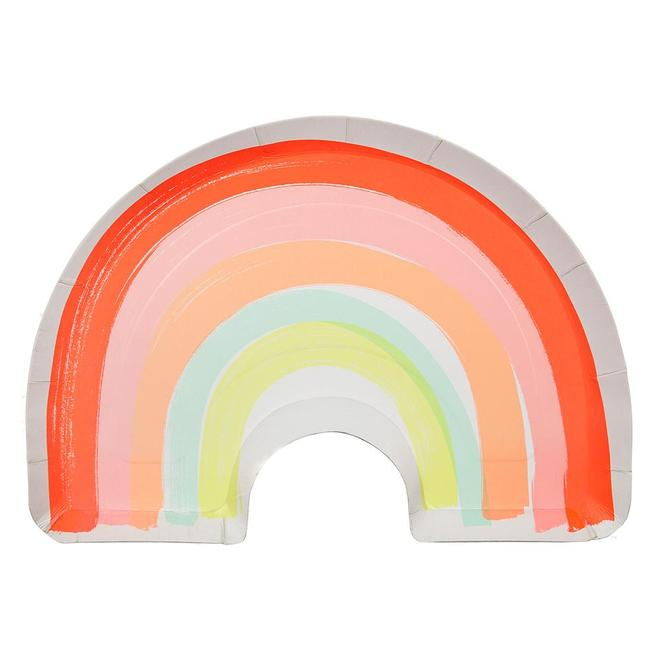 Paper Plate - Rainbow - Large
