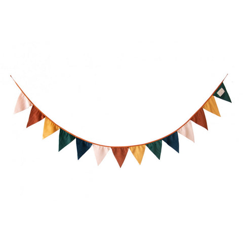 Bunting - Velvet Flags - Multi Coloured